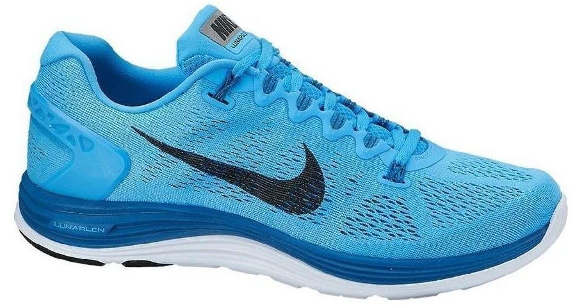 huge selection of 61803 ed895 Nike Lunarglide 5 Men s Running Trainers In Blue in Blue for Men - Lyst
