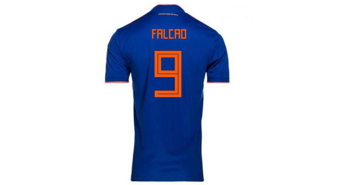 722cba7c34c adidas 2018-2019 Colombia Away Football Shirt (falcao 9) - Kids Women s T  Shirt In Blue in Blue - Lyst