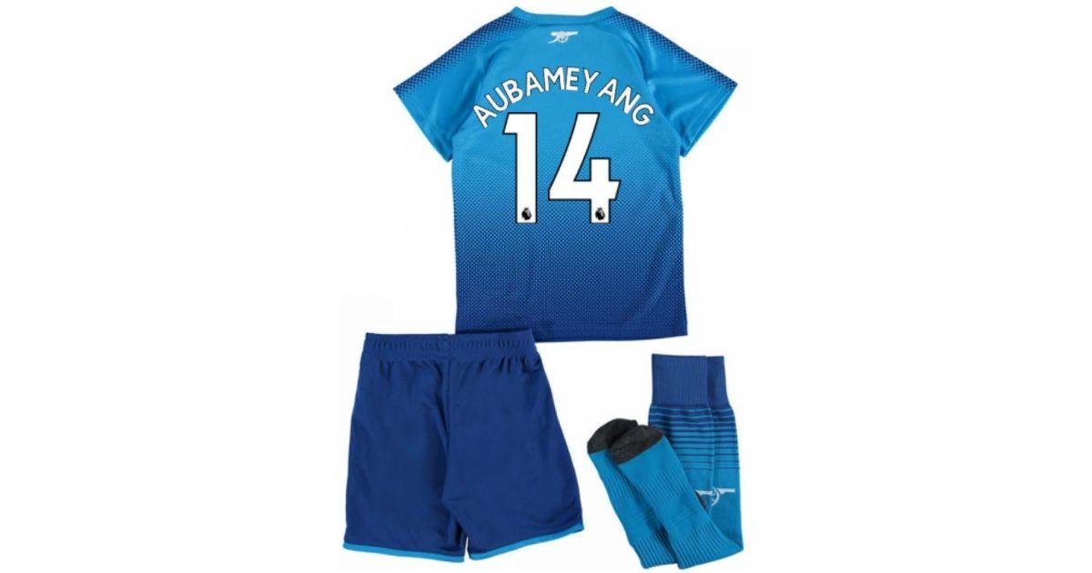 a3379c63f11 PUMA 2017-18 Arsenal Away Mini Kit (aubameyang 14) Women s In Blue in Blue  for Men - Lyst