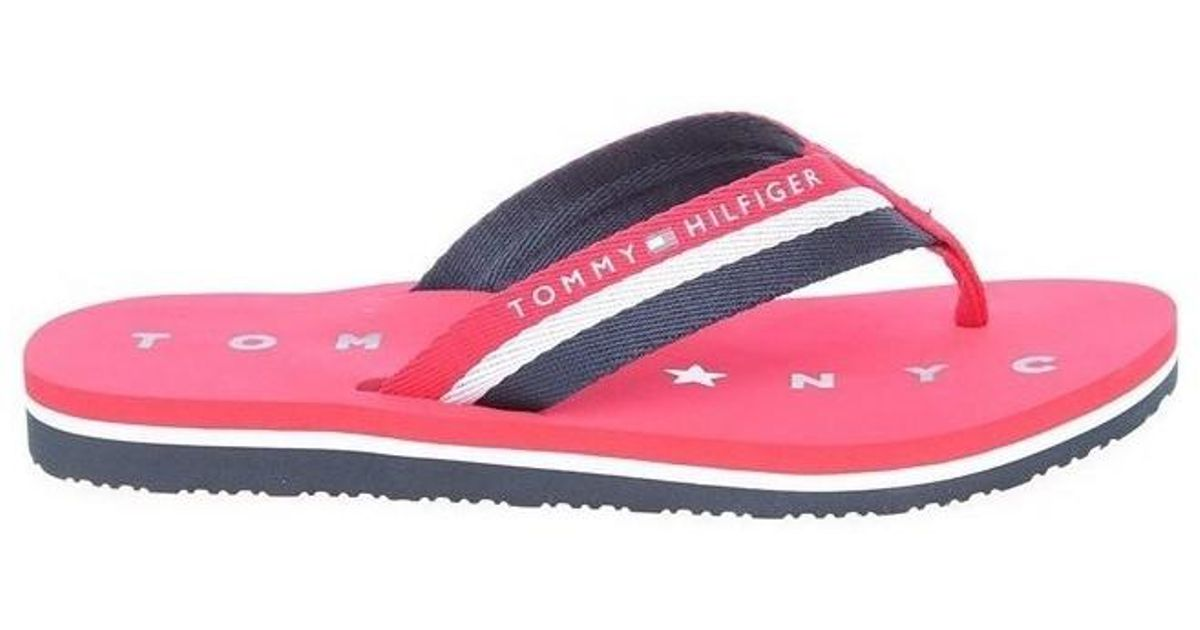 4334e82208ff Tommy Hilfiger Fw0fw02370 Tango Red Fw0fw02370 611 Men s Flip Flops    Sandals (shoes) In Red in Red for Men - Lyst