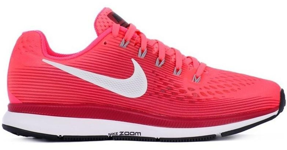 168985cacf8501 Nike Zoom Pegasus 34 W Women s Running Trainers In Red in Red - Lyst