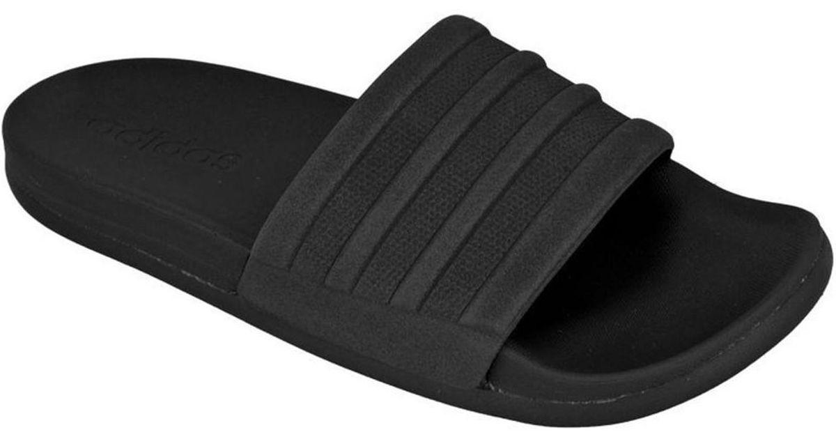 168ea6f48 adidas Adilette Cloudfoam Plus Mono Slides W Women s Flip Flops   Sandals  (shoes) In Black in Black - Lyst