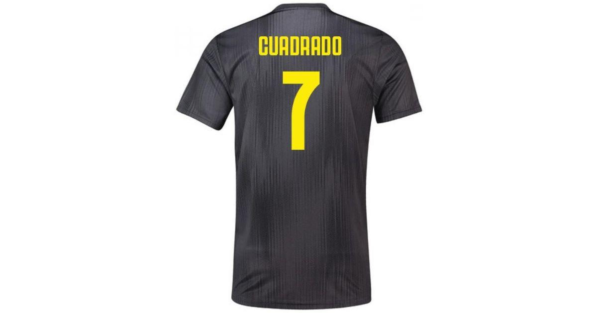 quality design f0f14 fcf1e Adidas - 2018-19 Juventus Third Football Shirt (cuadrado 7) Men's T Shirt  In Black for Men - Lyst