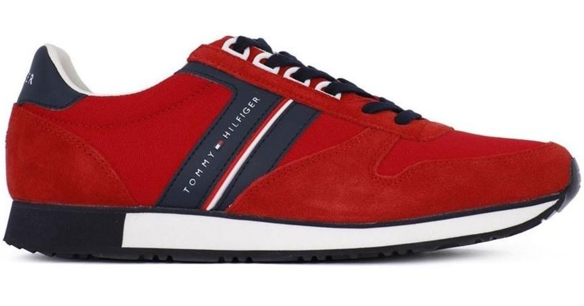 7328b7f5aa6ad3 Tommy Hilfiger Iconic Mix Men s Shoes (trainers) In Red in Red for Men -  Lyst