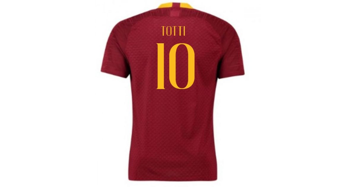 d4c2bed2f Nike 2018-2019 As Roma Home Football Shirt (totti 10) Women's T Shirt In  Red in Red - Lyst