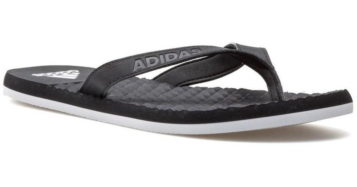 95aa5e6e6 adidas Eezay Soft Men s Flip Flops   Sandals (shoes) In Black in Black for  Men - Lyst