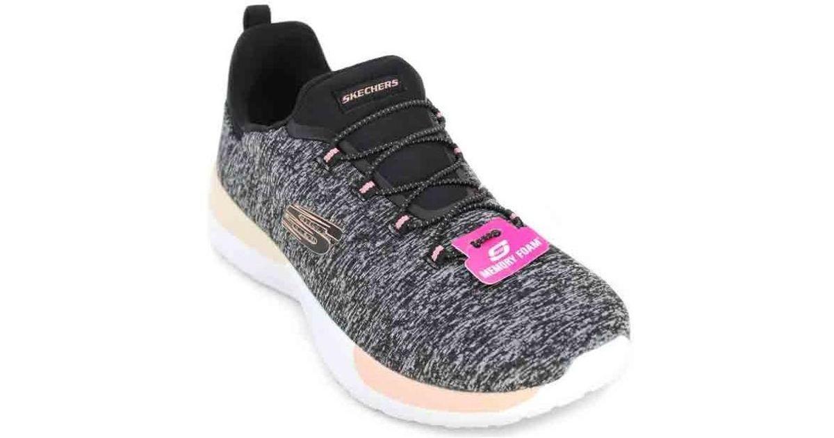 Skechers Gray Dynamight Break Through 12991 Sneakers For Women Women's In Grey