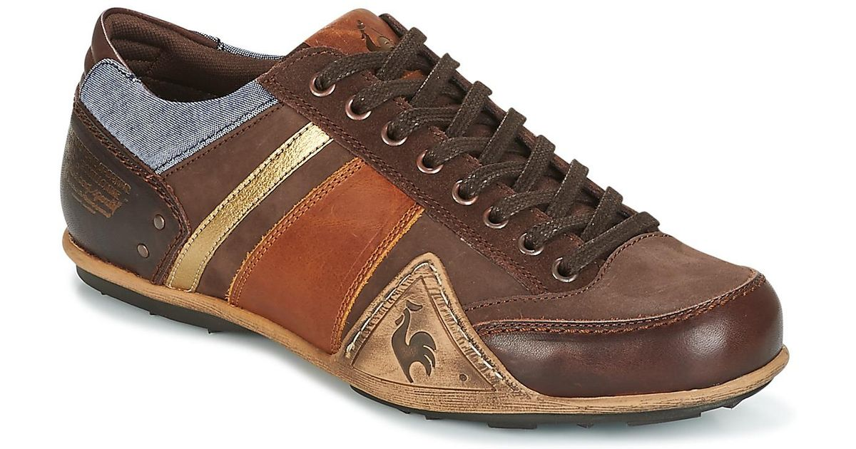 135cdc3e2edd Le Coq Sportif Turin Leather chambray Shoes (trainers) in Brown for Men -  Lyst