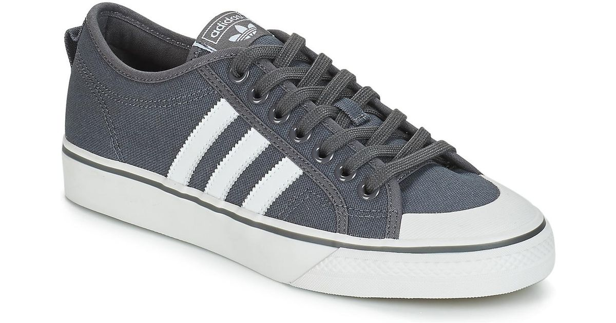 online store ef1ce 21b38 adidas Nizza Mens Shoes (trainers) In Grey in Gray for Men -