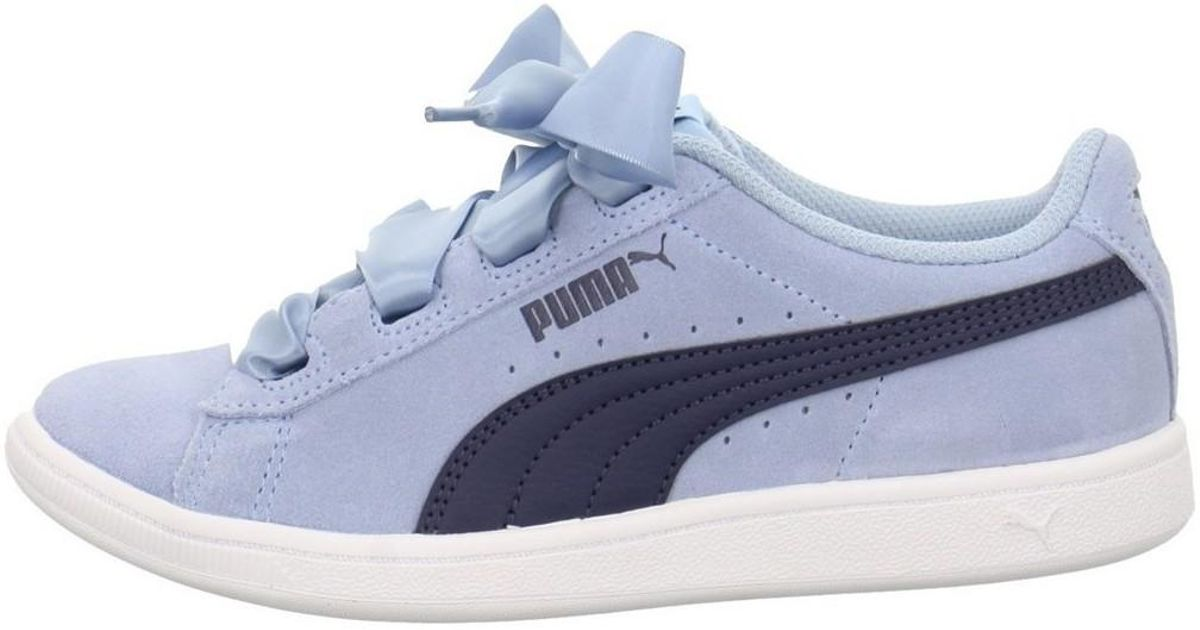 PUMA Vikky Ribbon Jr Women s Shoes (trainers) In Blue in Blue - Lyst de0e57d5b