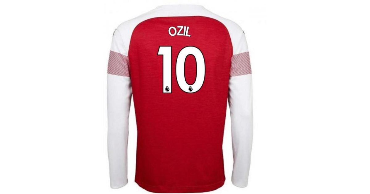 newest 8d40a 16551 PUMA - 2018-2019 Arsenal Home Long Sleeve Shirt (ozil 10) Men's In Red for  Men - Lyst