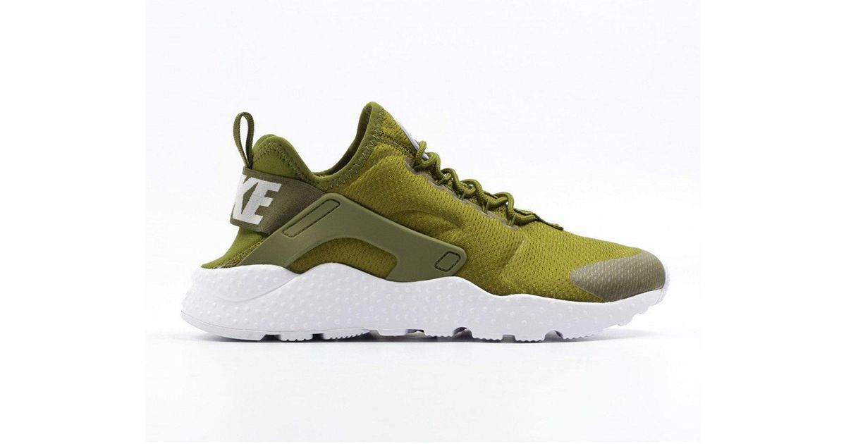various colors 127d4 9715e Nike Green Air Huarache Run Ultra Olive Trainers for men