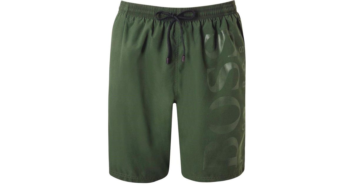 10c0920b05 Boss Black Orca Swim Shorts Green in Green for Men - Lyst