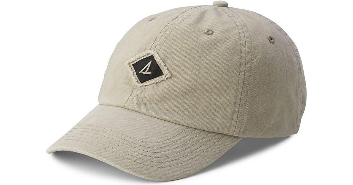 bc65822d5c1 Lyst - Sperry Top-Sider Unisex Burgee Saltwash Canvas Hat in Natural for Men