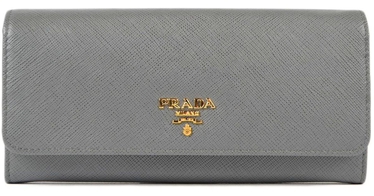 c99395084a83 Prada Saffiano Multicolor Wallet in Gray - Lyst