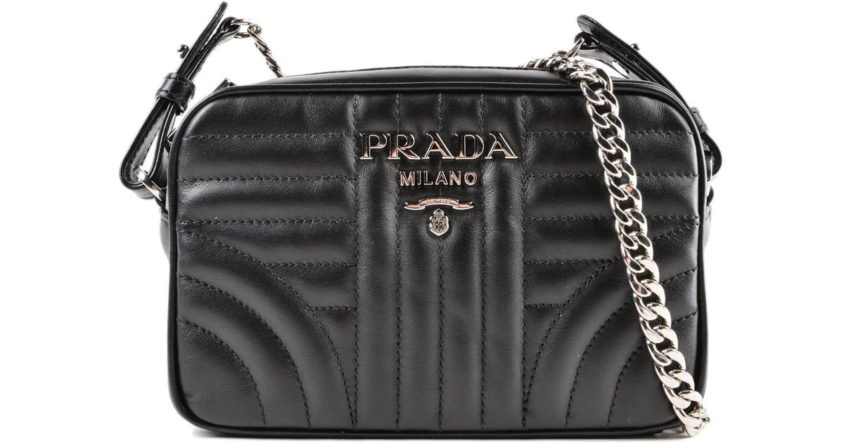 dea10eda9a45 Lyst - Prada Diagramme Crossbody in Black