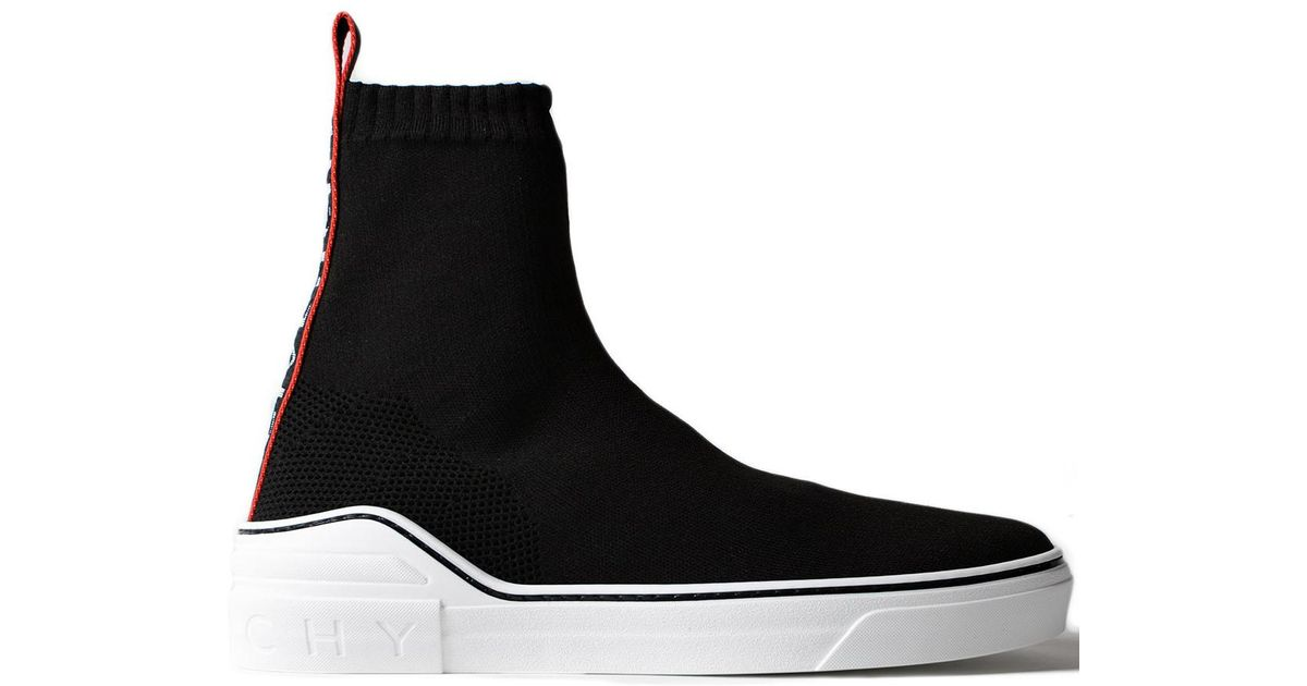 e5090ae2a3fbd Lyst - Givenchy George V Mid Sock Sneaker in Black for Men