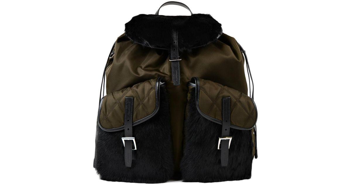 486ec864f5a43a france lyst prada tess implapin backpack in black aa2b2 18065