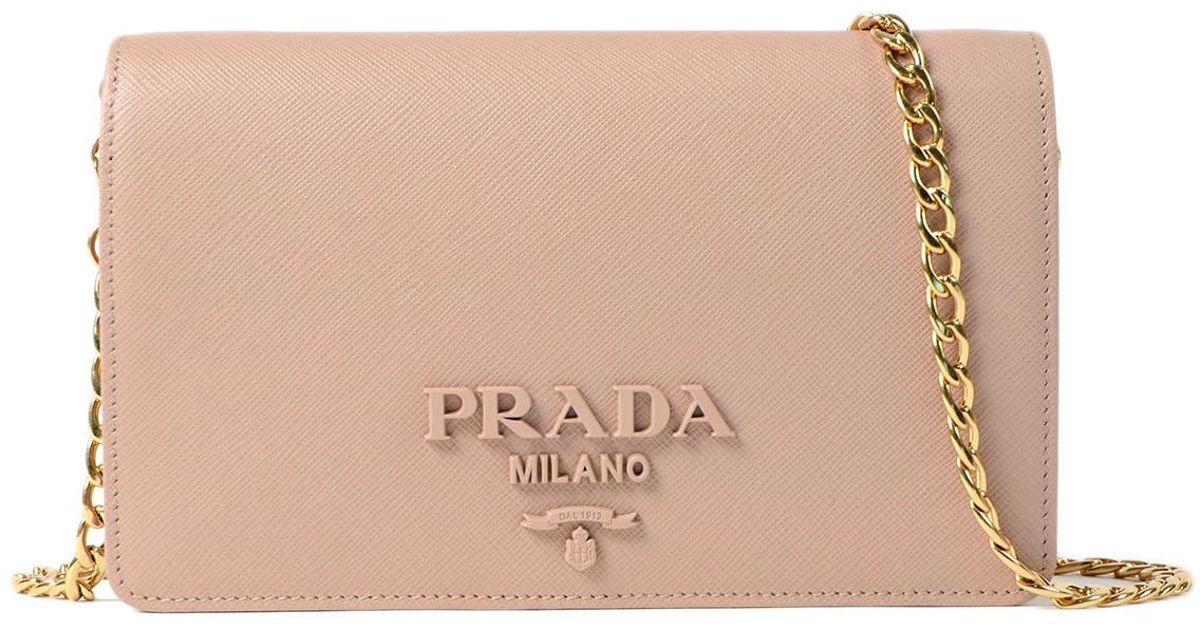 Lyst - Prada Saffiano Lux Wallet Bag 103a22237e35f