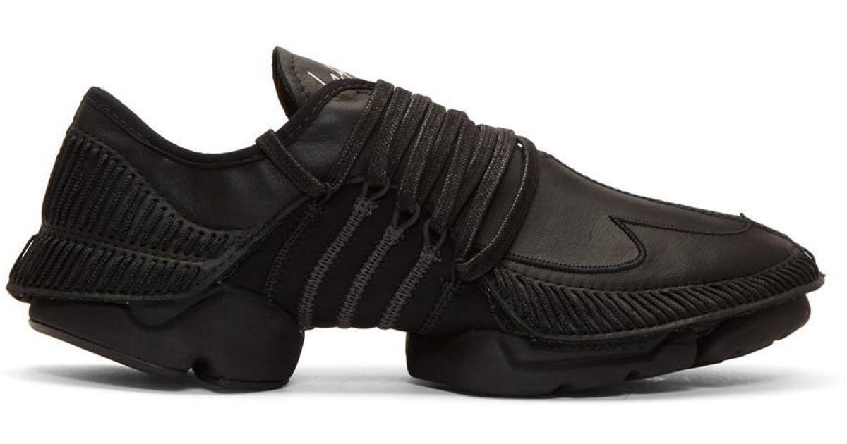 a9f921962 Lyst - Yohji Yamamoto Black Takusan Sneakers in Black