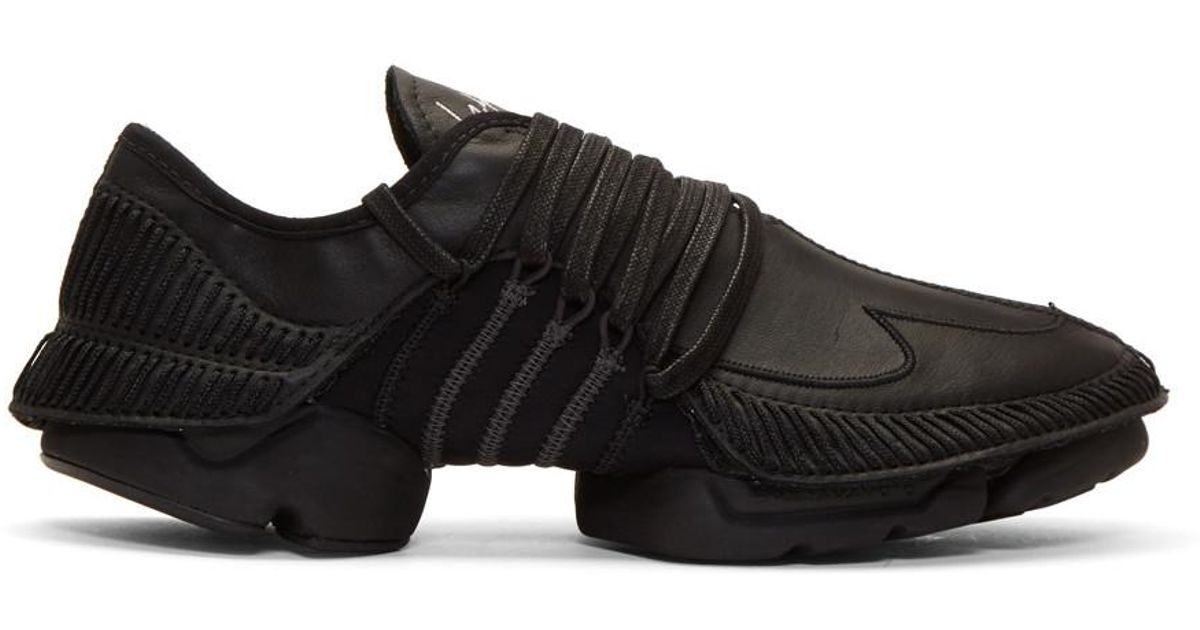 7ec6d0fb8bdd0 Lyst - Yohji Yamamoto Black Takusan Sneakers in Black