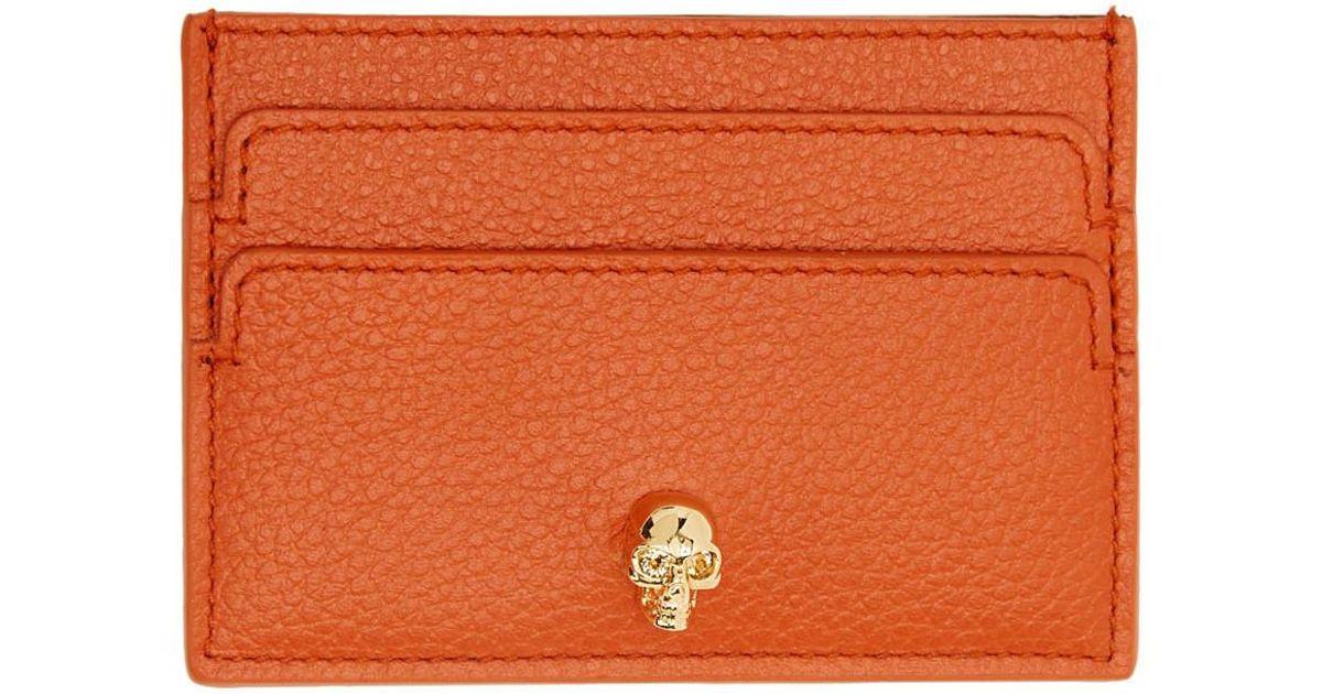 skull cardholder - Yellow & Orange Alexander McQueen nutFZ72lqe