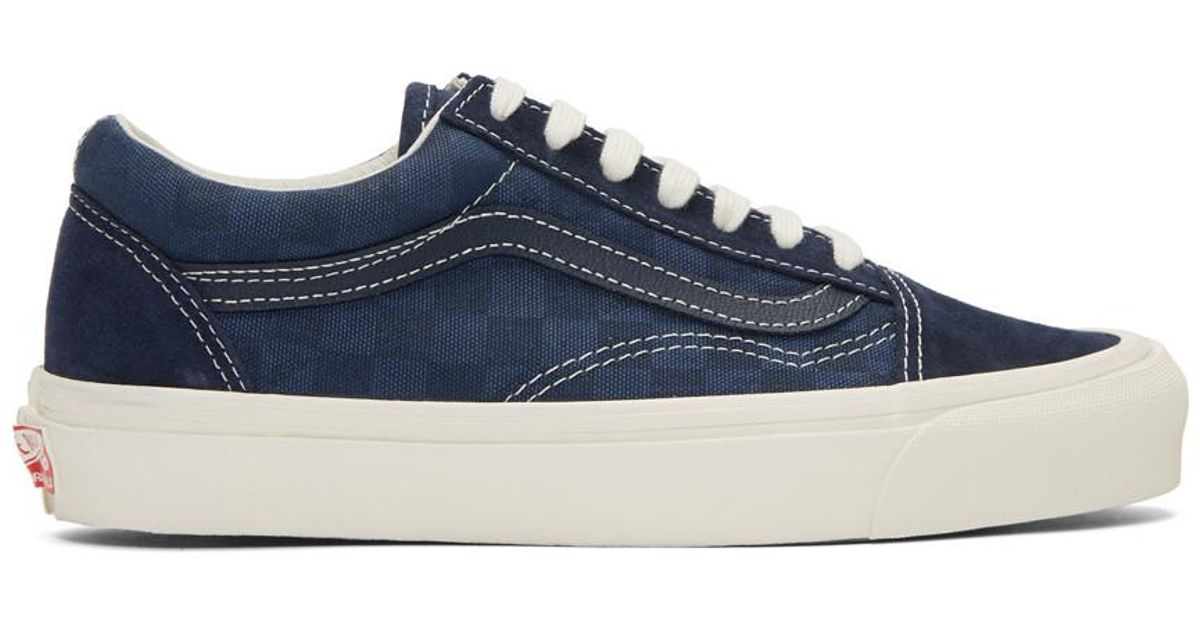 Lyst - Baskets bleu marine Checkerboard OG Old Skool LX Vans pour homme en  coloris Bleu bdb3dbd75966