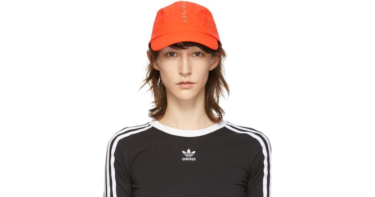 5fa0f96f6e306 Lyst - adidas By Stella McCartney Orange Run Cap in Orange