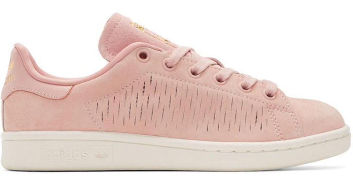 reputable site d2235 a6767 Lyst - adidas Originals Pink Suede Stan Smith Sneakers in Pink
