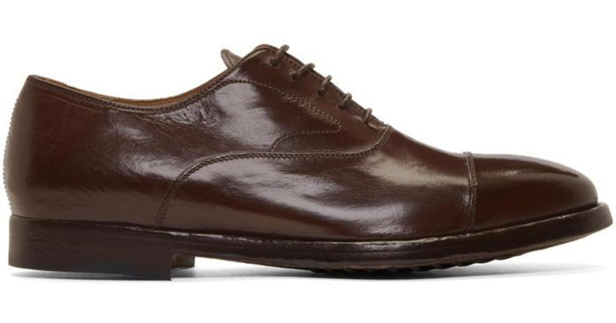 Brown Herve Oxfords Officine Creative Clearance Factory Outlet Best Place Find Great Cheap Online Cheap Get To Buy The Cheapest Cheap Online XjdeEGbvT