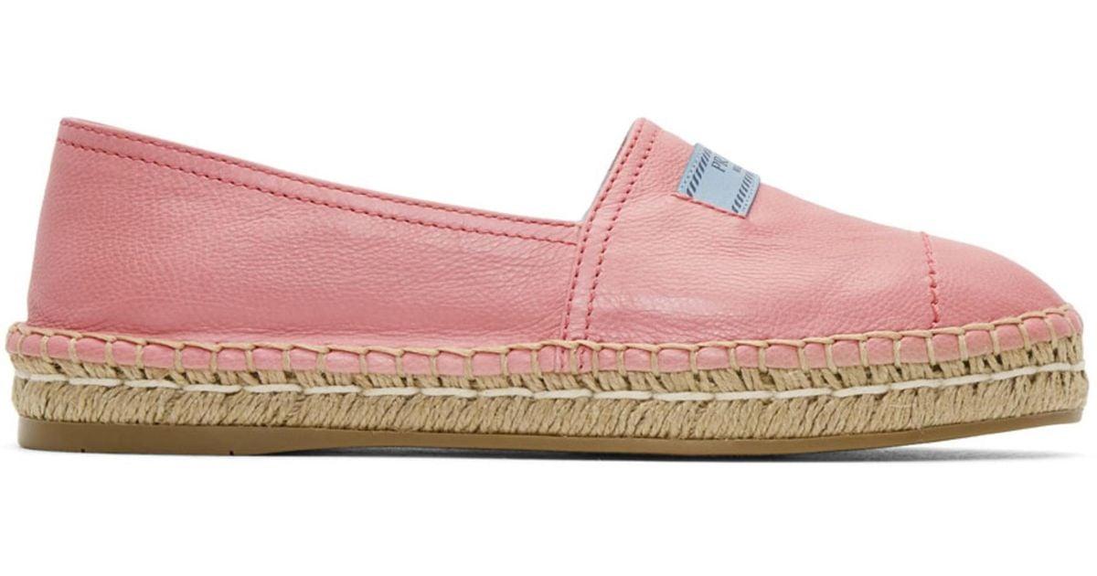 sale retailer 937c7 6abfe prada-pink-Pink-Platform-Espadrilles.jpeg