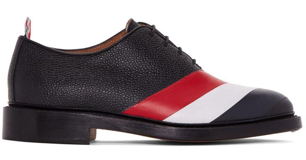 Black Diagonal Stripe Wholecut Oxfords Thom Browne Ps2Of0DMk