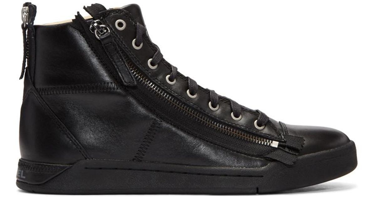 Black S-Diamzip High-Top Sneakers Diesel