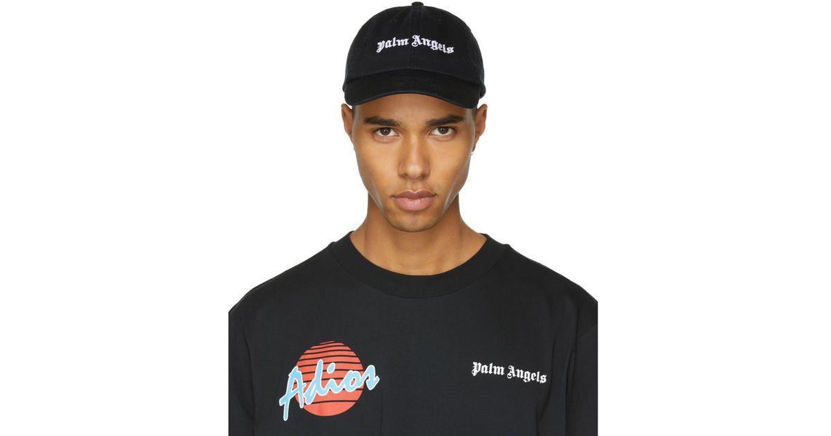 21568f36b33 Lyst - Palm Angels Black Logo Vintage Cap in Black for Men