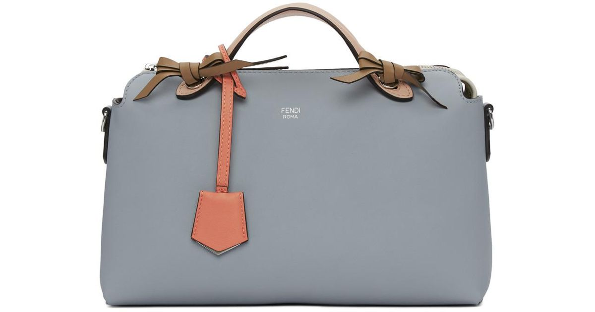 9abd84cad6 Lyst - Fendi Blue And Pink Medium Pearl By The Way Bag in Blue