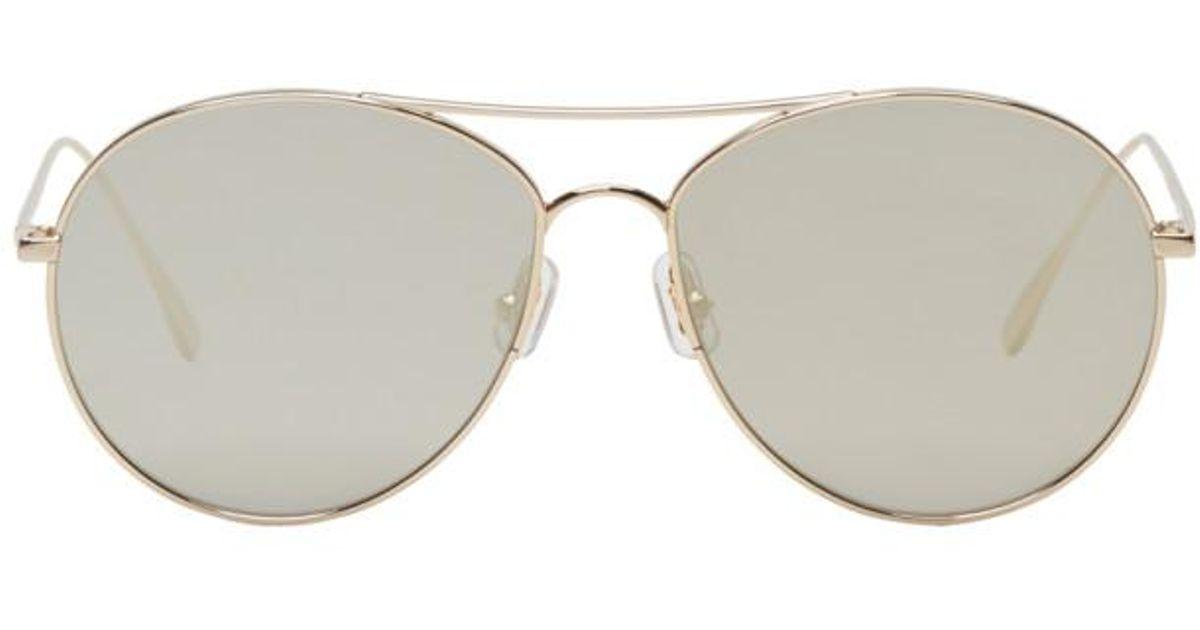 5b7149fb6ef6 Gentle Monster Gold Ranny Ring Aviator Sunglasses in Metallic for Men - Lyst