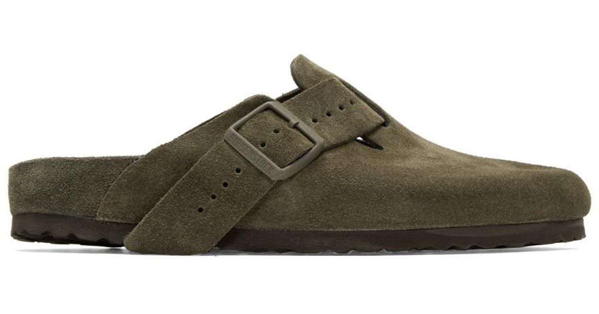 Rick OwensTaupe zrzOgQ5NF5 Edition Suede Boston Slip-On Loafers A0O01KYMFK