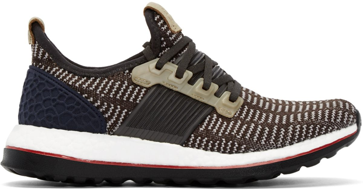 0090054863e Adidas Originals Grey And Navy Pure Boost Sneakers in Gray for Men - Lyst