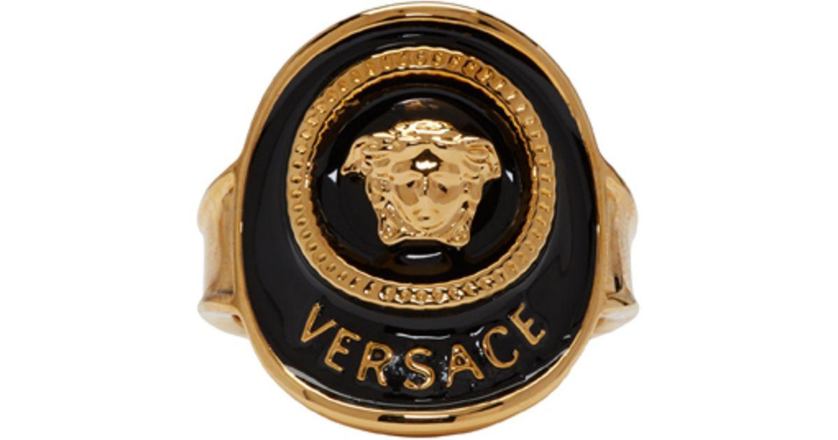Versace Gold Medusa Ring in Multicolor for Men gold