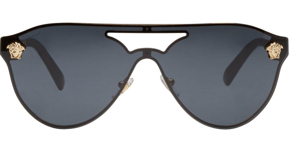 df2343cc81 Versace Black Aviator Sunglasses