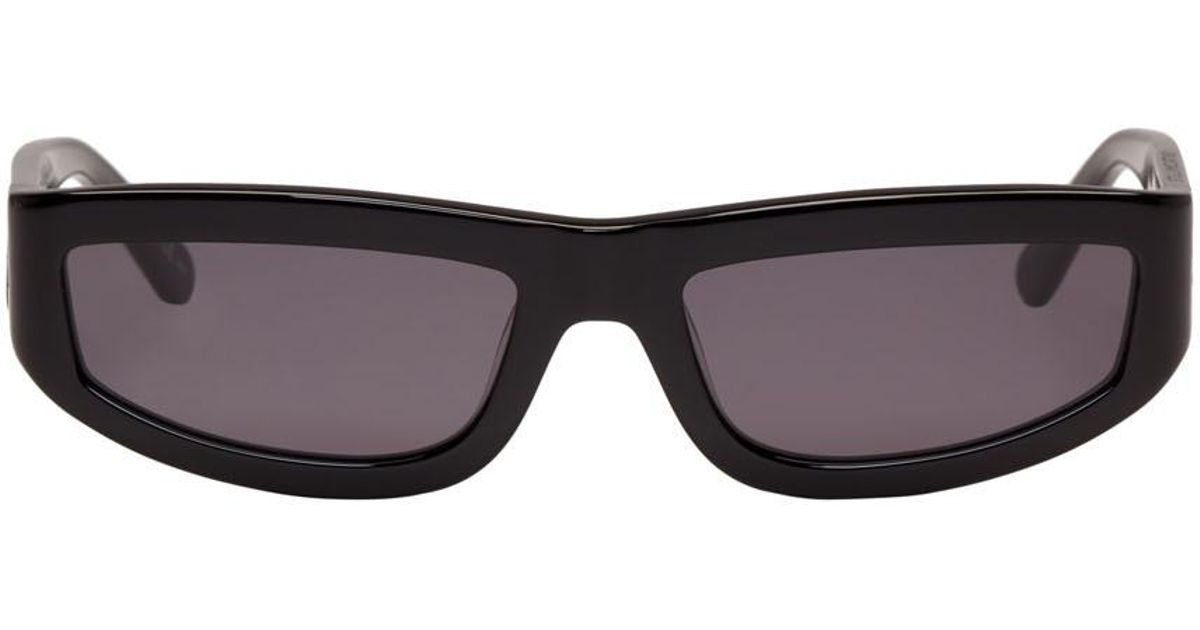 Black Slim Rectangular Sunglasses Stella McCartney 3XWnWxRo
