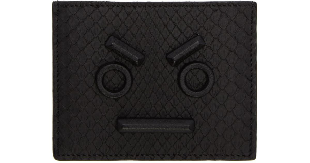 a7d06ffc Fendi - Black Python ' Faces' Card Holder for Men - Lyst