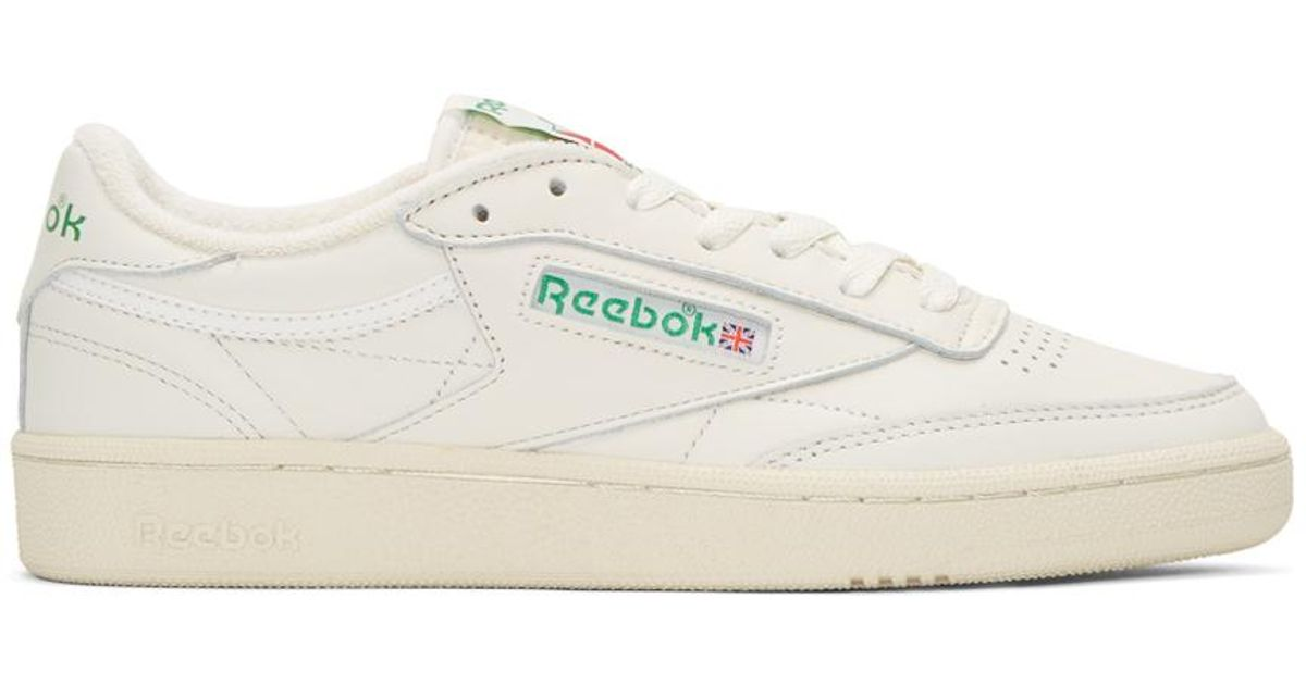 Lyst - Reebok Ivory Club C 85 Vintage Sneakers in White for Men 89ac56d46