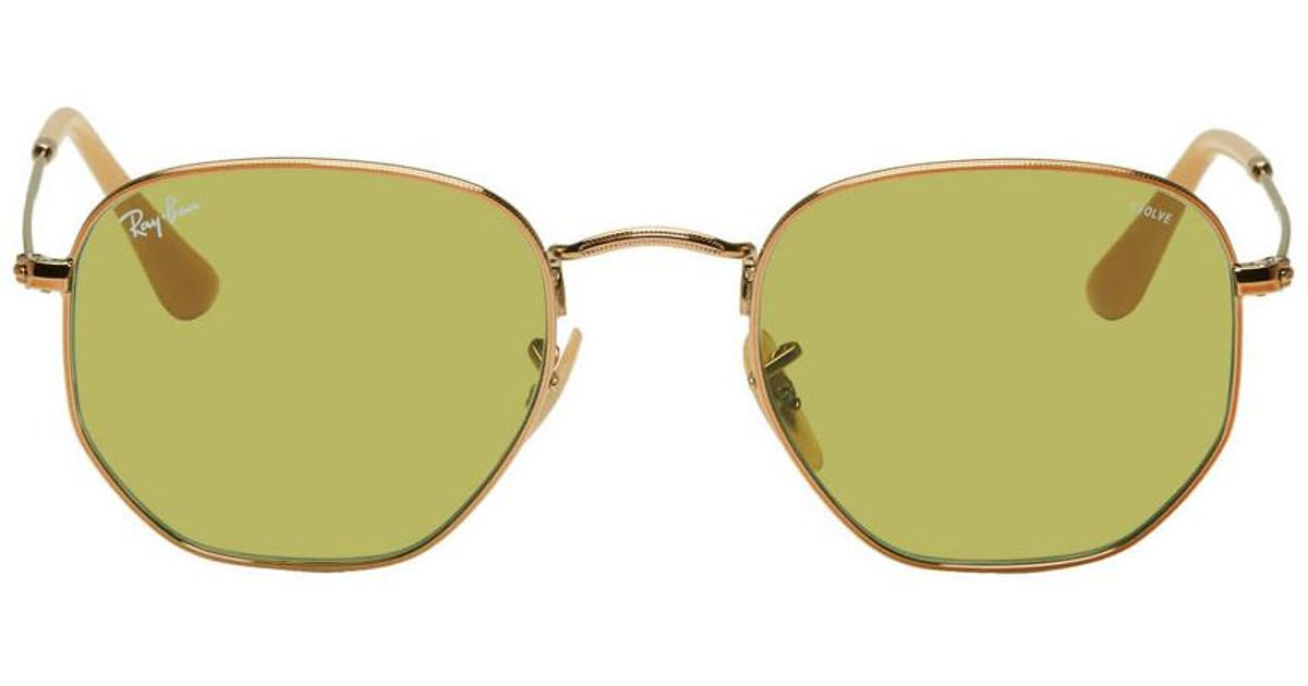 4875f2aca72 Ray-Ban Copper And Green Hexagonal Evolve Sunglasses for Men - Lyst