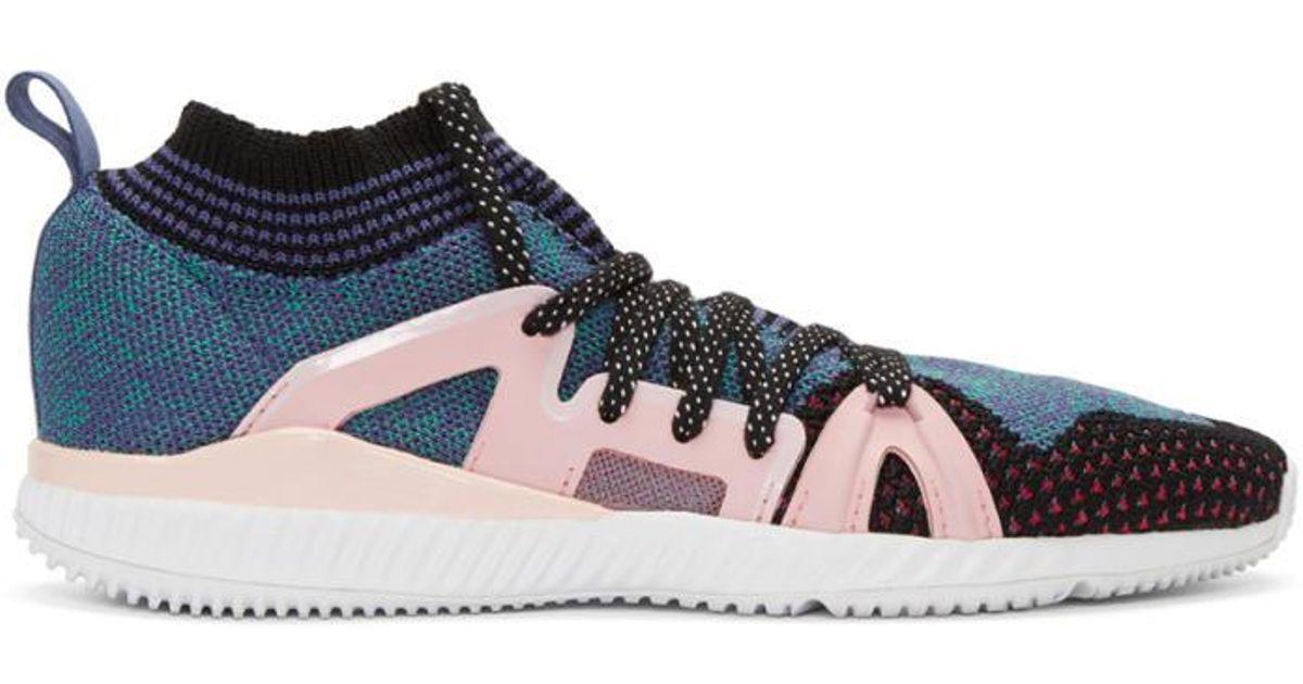 dd25419c141bb Lyst - adidas By Stella McCartney Pink   Purple Crazytrain Bounce Sneakers  in Pink