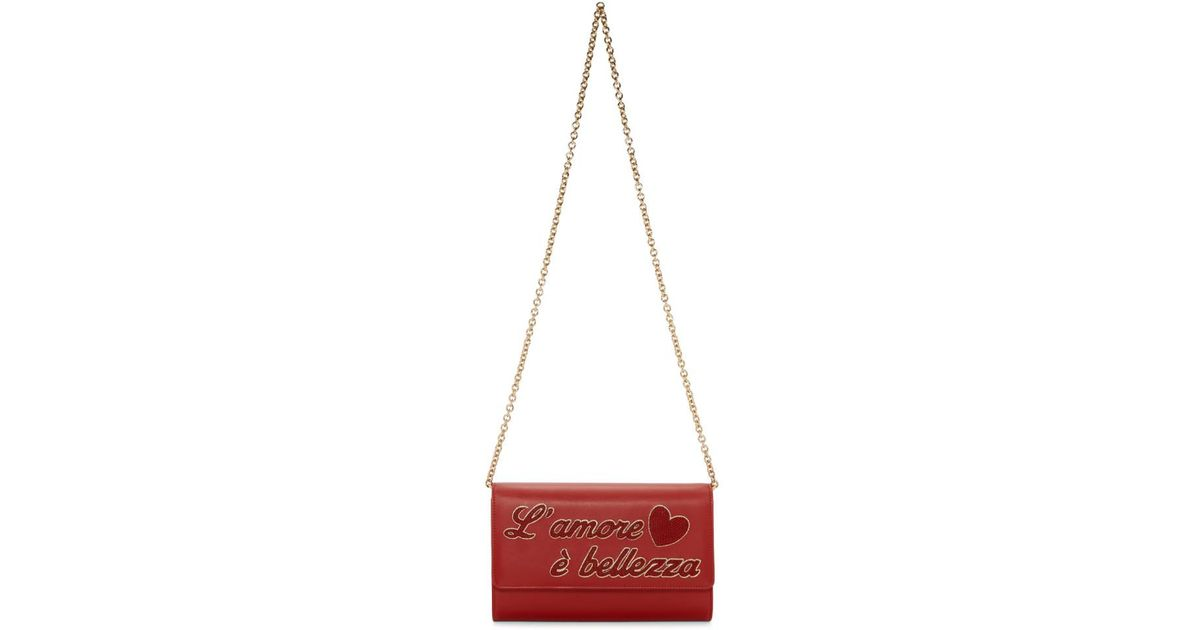 Red LAmore e Belezza Chain Bag Dolce & Gabbana YjWSsi