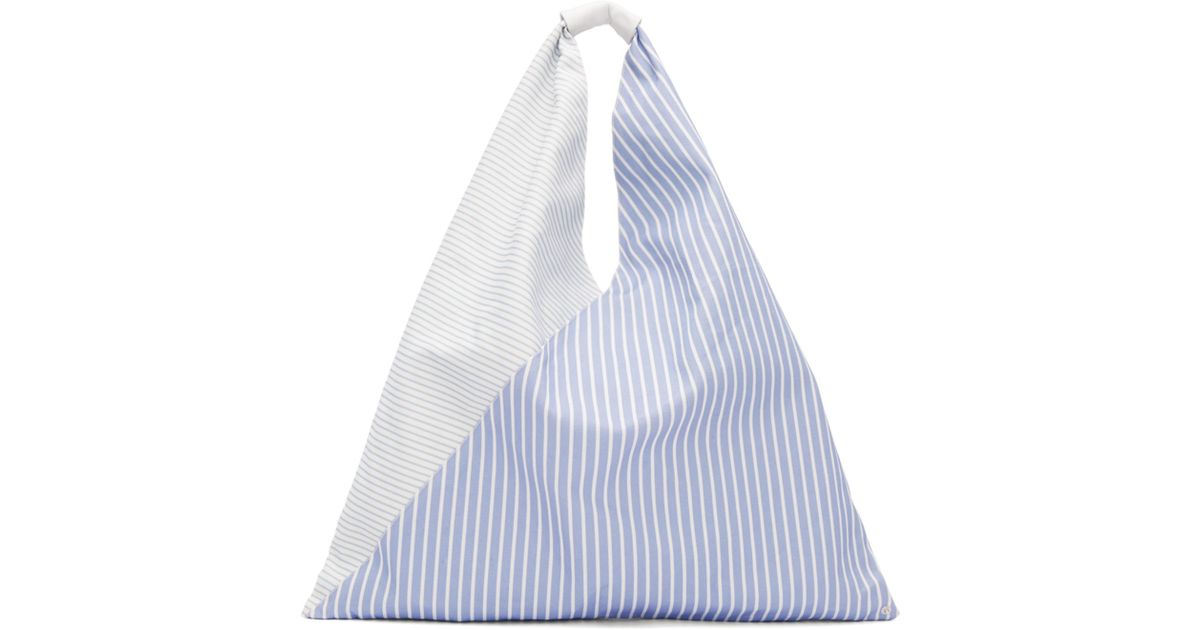 Lyst - MM6 by Maison Martin Margiela Blue And White Striped Canvas Tote in  Blue 2568cec7e31