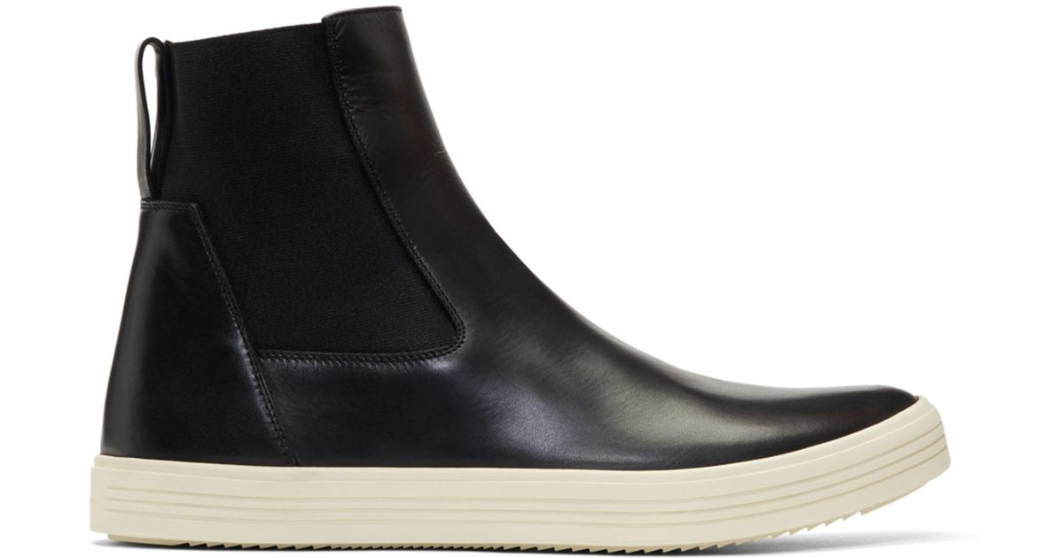 Mastodon leather Chelsea boots Rick Owens Discount Top Quality Discount Amazon Sale Largest Supplier orqj9