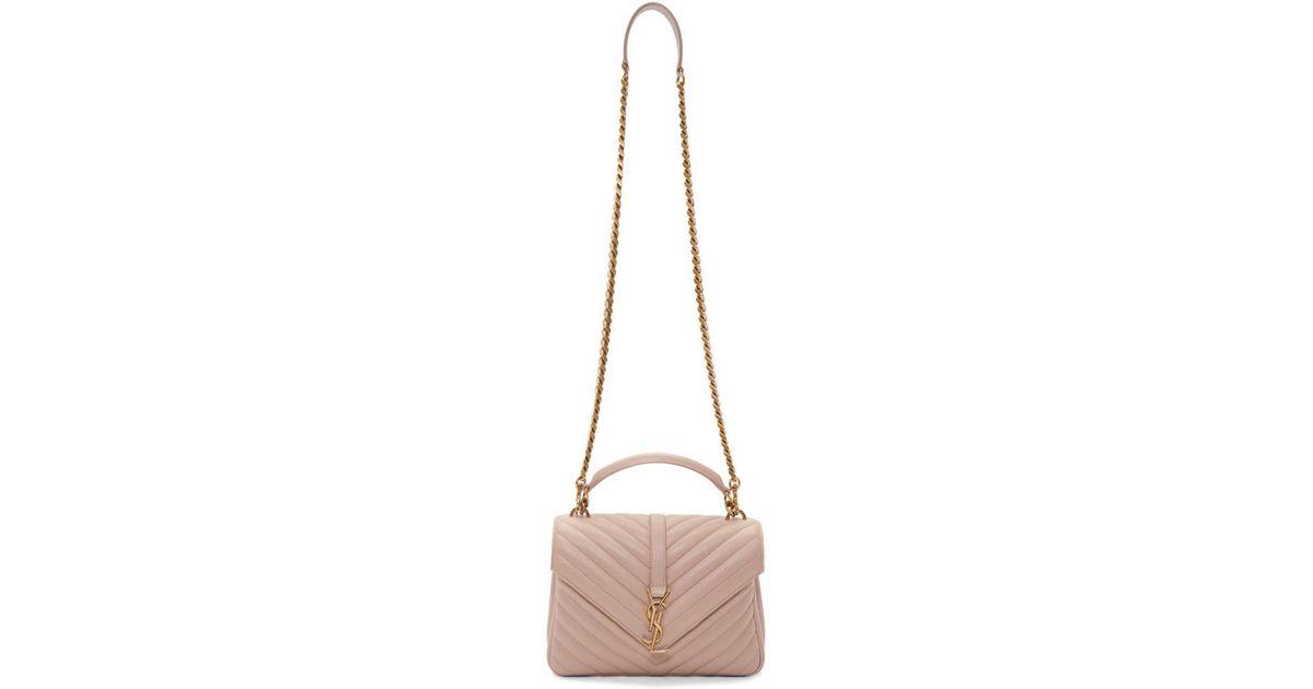 60010b97fe4 Saint Laurent Pink Medium Monogram College Bag - Lyst