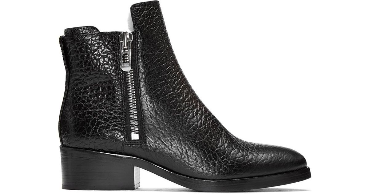 Isabel Marant Black Croc-Embossed Shearling Alexa Boots ysXzkwNhk6